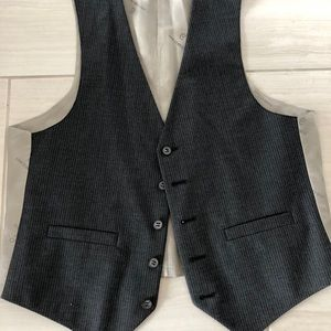 Striped Vest with Silky Back